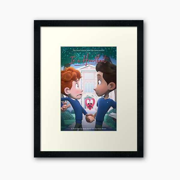 In a Heartbeat - Official Film Poster Framed Art Print