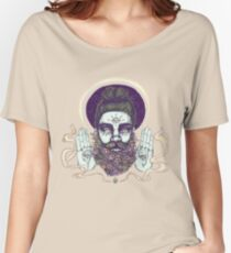 Flower Beard || Psychedelic Illustration by Chrysta Kay Women's Relaxed Fit T-Shirt