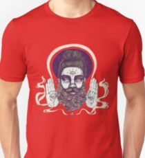 Flower Beard || Psychedelic Illustration by Chrysta Kay Unisex T-Shirt