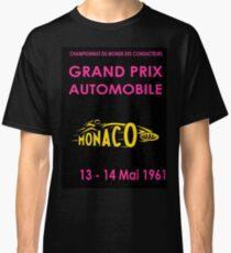 MONACO: Vintage Psychedelic Auto Racing Advertising Print Classic T-Shirt