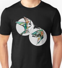 Rainbow Bee Eater Birds with Striped Graphic Unisex T-Shirt