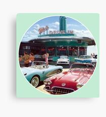 90s Drive-In Diner Canvas Print