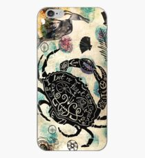 Christopher the Crab enjoying a walk along the ocean bed  iPhone Case