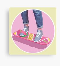 90s Aesthetic Hoverboard Canvas Print