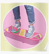 90s Aesthetic Hoverboard Poster