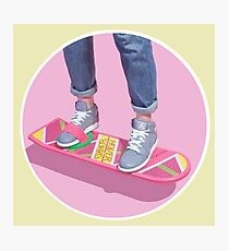 90s Aesthetic Hoverboard Photographic Print