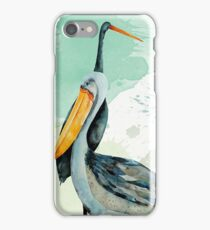 Percy the Pelican hangs out with friends iPhone Case/Skin