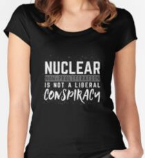 Nuclear Non Proliferation Is Not A Liberal Conspiracy Women's Fitted Scoop T-Shirt