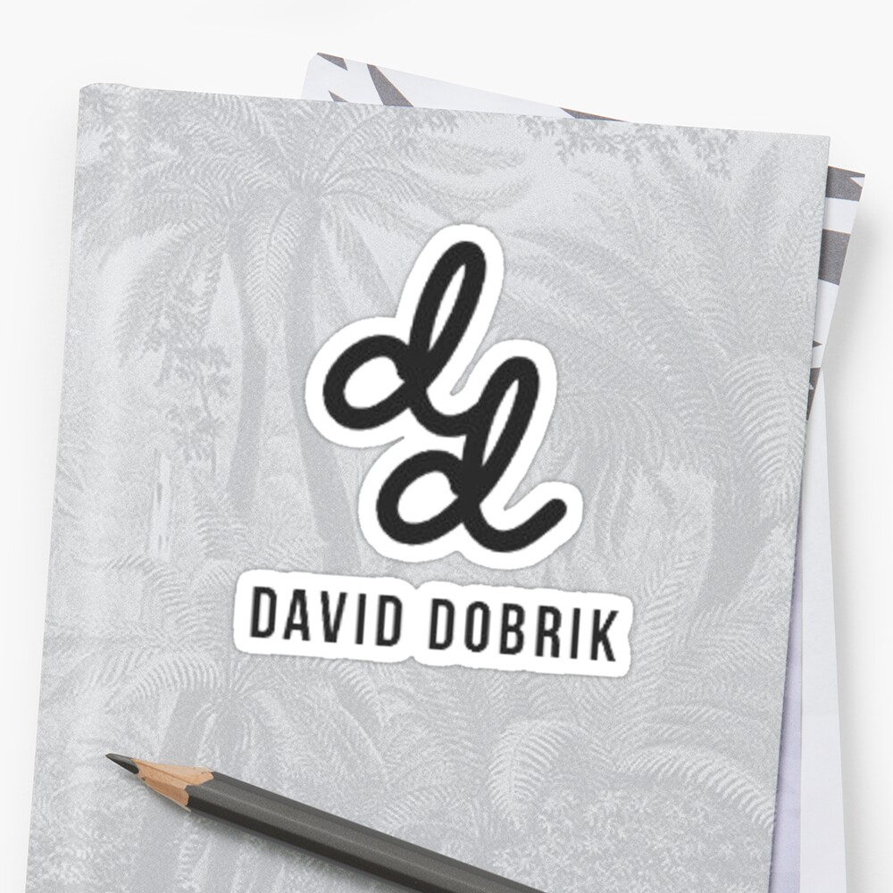 Quot David Dobrik Quot Sticker By Tiffyiana Redbubble