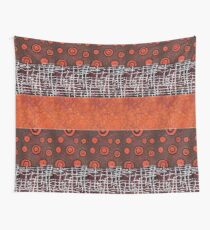 Orangeshed triptych part a, b & c Wall Tapestry