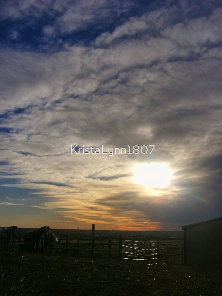 Sunset At The Farm by KristaLynn1807