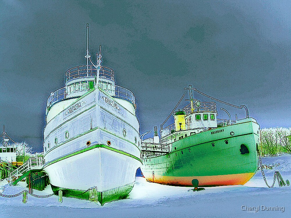 selkirk boats by Cheryl Dunning