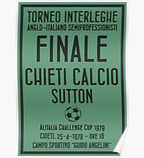 Chieti - Anglo-Italian Final 1979 Poster