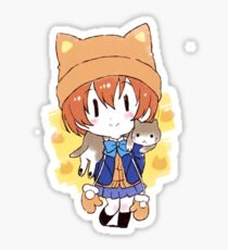 Rin Hoshizora Cat Sticker