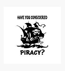 Consider Piracy Photographic Print