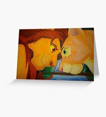 Simba And Nala Greeting Card