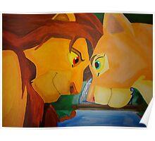 Simba And Nala Poster