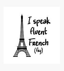Fluent French Photographic Print