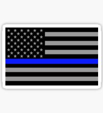 Police Flag Sticker Sticker