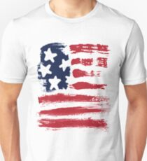 Abstract Stars Stripes Patriotic American Flag Unisex T-Shirt