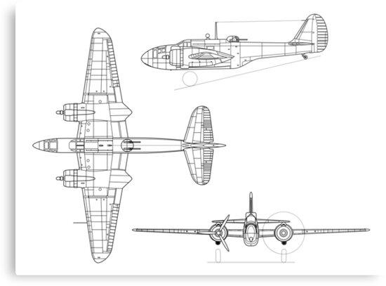 Martin baltimore plane blueprints metal prints by luke mckinstry martin baltimore plane blueprints by luke mckinstry malvernweather Image collections