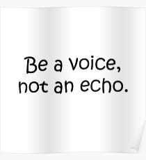 Be a Voice! Poster