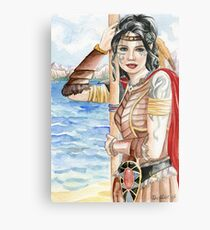 Coastal Elf Warrior Metal Print