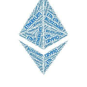 Ethereum BlockChain Revolution Crypto ETH Word by curbapparel