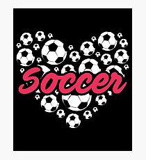 Heart Soccer Gift Shirt Photographic Print