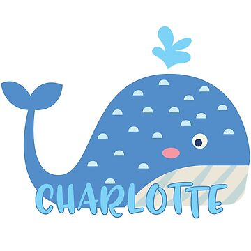 Whale with waves -- Charlotte by lenorelocken