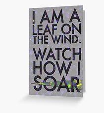A Leaf on the Wind Greeting Card