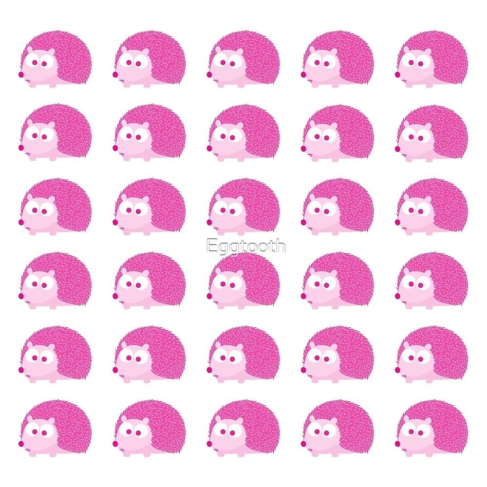 Cute Pink Hedgehog Pattern by Eggtooth