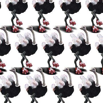 Cha Cha Roller Derby Ostrich Gang by DigitalShmo