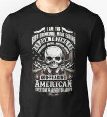 Beer Drinking Gun Toting American Unisex T-Shirt