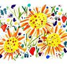 Bright and cheerful summer garden by greenrainart