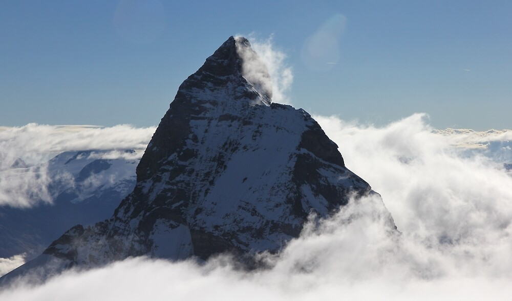Matterhorn summit from Dent d'Herens (Switzerland) by Marion Joncheres