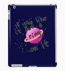 if you like it put a ring on it iPad Case/Skin