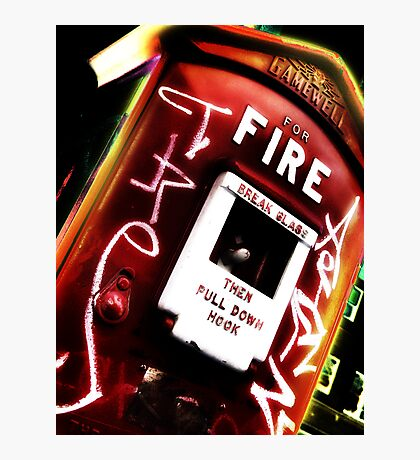 fire alarm Photographic Print
