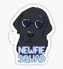 NEWFIE SQUAD (black) Sticker