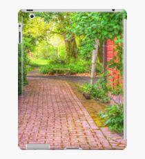 Paved garden path with shrubs iPad Case/Skin