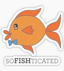 SoFISHticated Mr. Gold Sticker