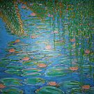 Waterlilies Under The Weeping Willow. by Vincent Loverso