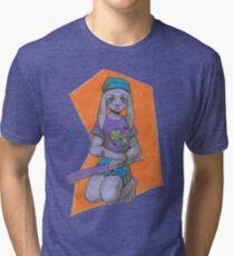 Purple Bun Tri-blend T-Shirt