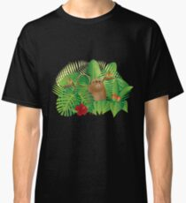 Tropical Rainforest  Jungle Monkey Illustration Classic T-Shirt
