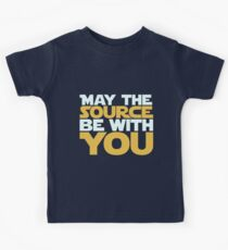 May The Source Be With You Kids Tee