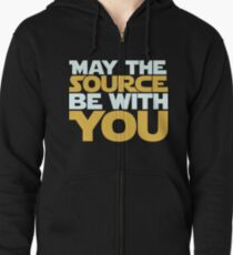 May The Source Be With You Zipped Hoodie