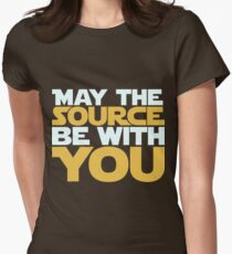 May The Source Be With You Women's Fitted T-Shirt
