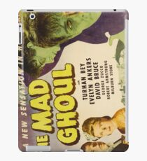 The Mad Ghoul, vintage horror movie poster iPad Case/Skin