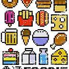 8 bit Foodie by artlahdesigns