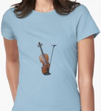 V for Violin Womens Fitted T-Shirt